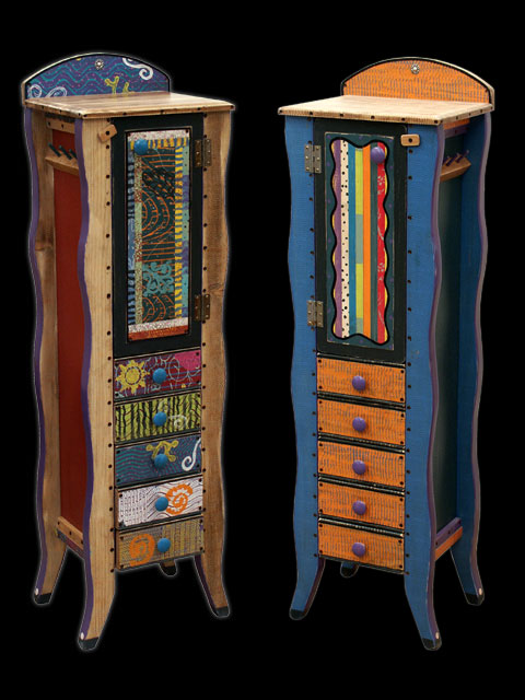 Large Jewelry Armoire Shoestring Creations