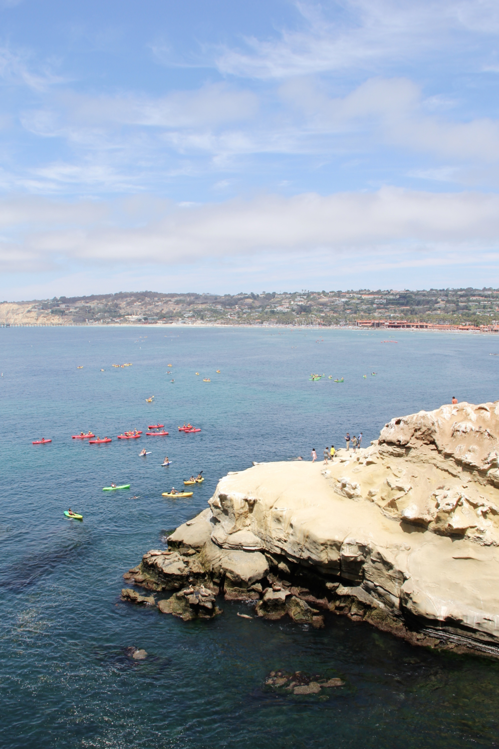 Kayakers and paddleboarders at Goldfish Point