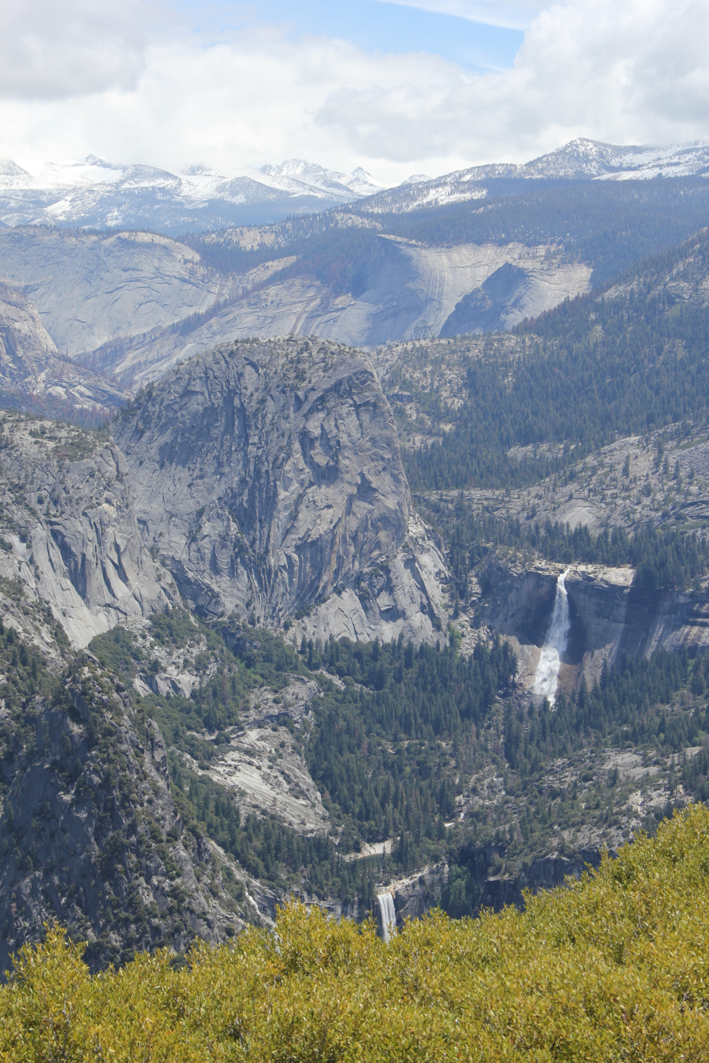 View of Vernal Falls and Nevada Falls from Glacier Point