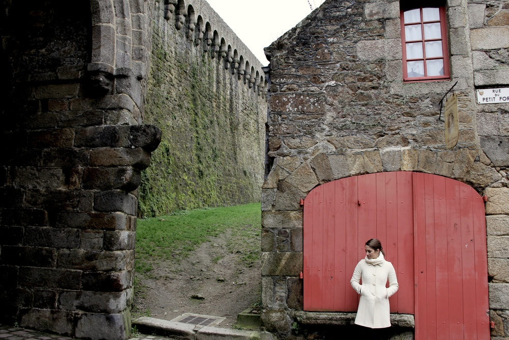 Along the remparts of the castle in Dinan, France