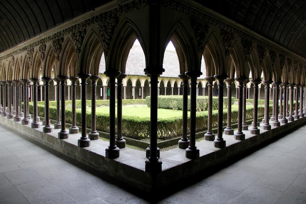 Abbey cloister | Mont St Michel