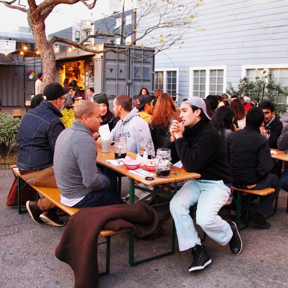 Biergarten in Hayes Valley, San Francisco | via Beyond Ordinary Guides