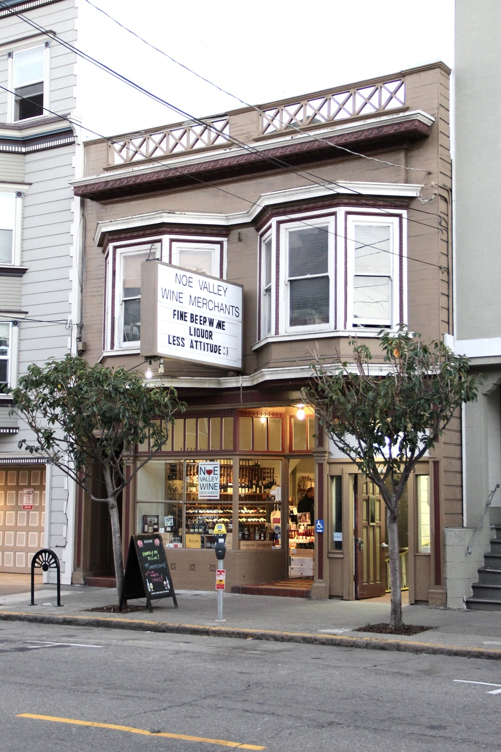 """Fine Beer Wine Liquor, Less Attitude :)"" Noe Valley, San Francisco 