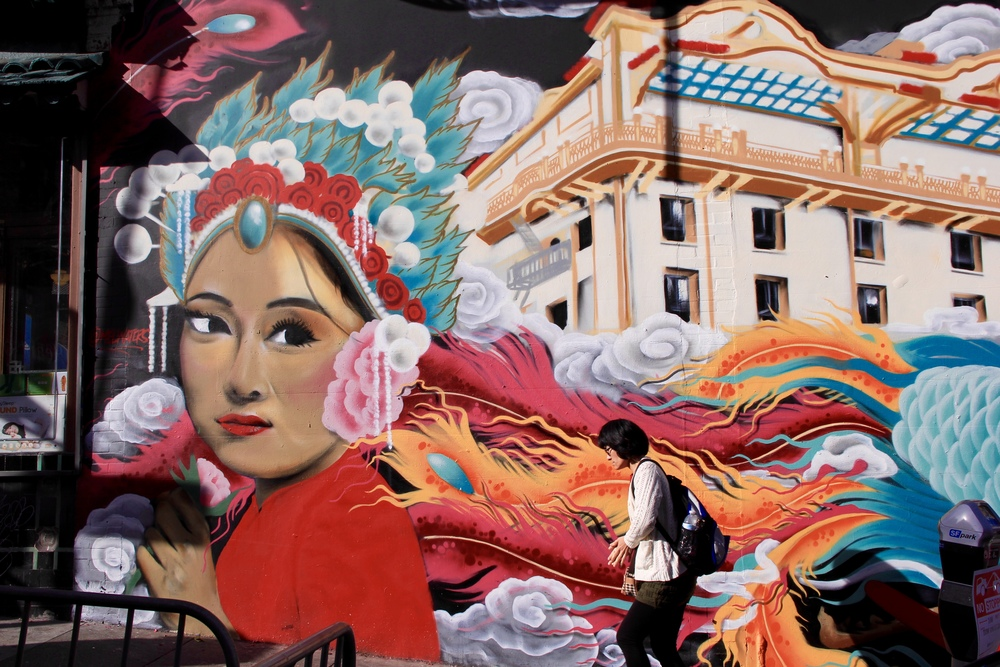 my favorite mural in Chinatown, San Francisco