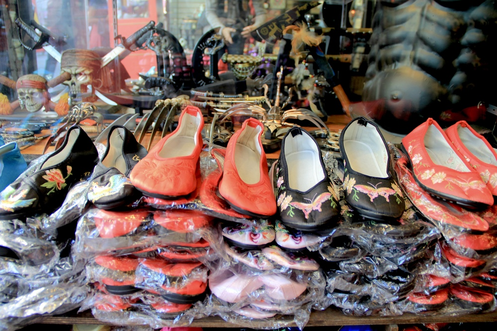 more slippers | Chinatown, San Francisco