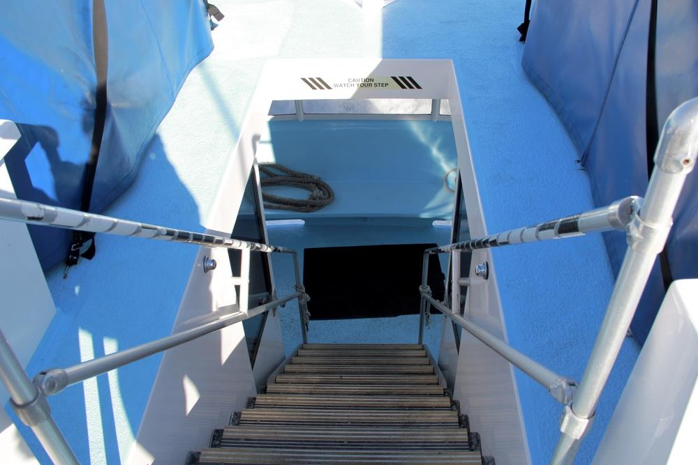 best to be below deck if you get sea sick