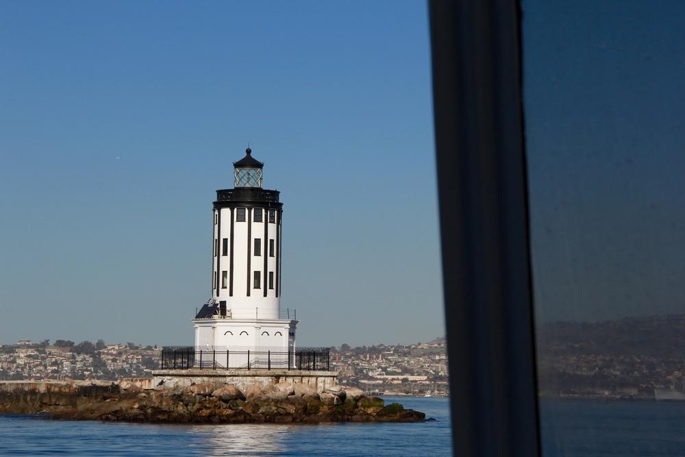 lighthouse as we left long beach