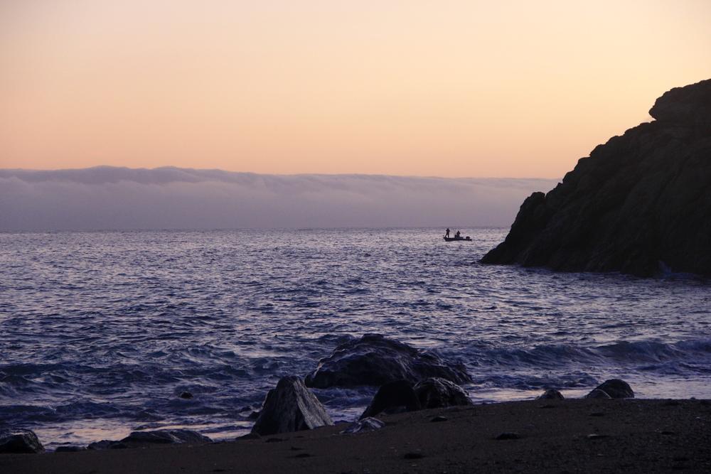 early morning fisherman at parson's landing | catalina island