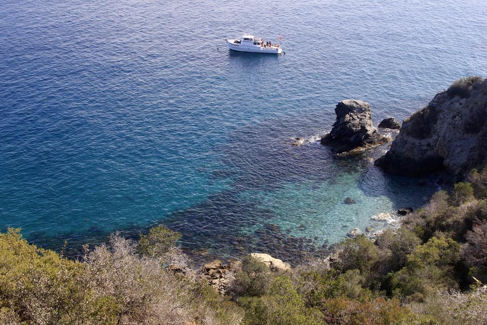 hiking along the coast of catalina island, ca