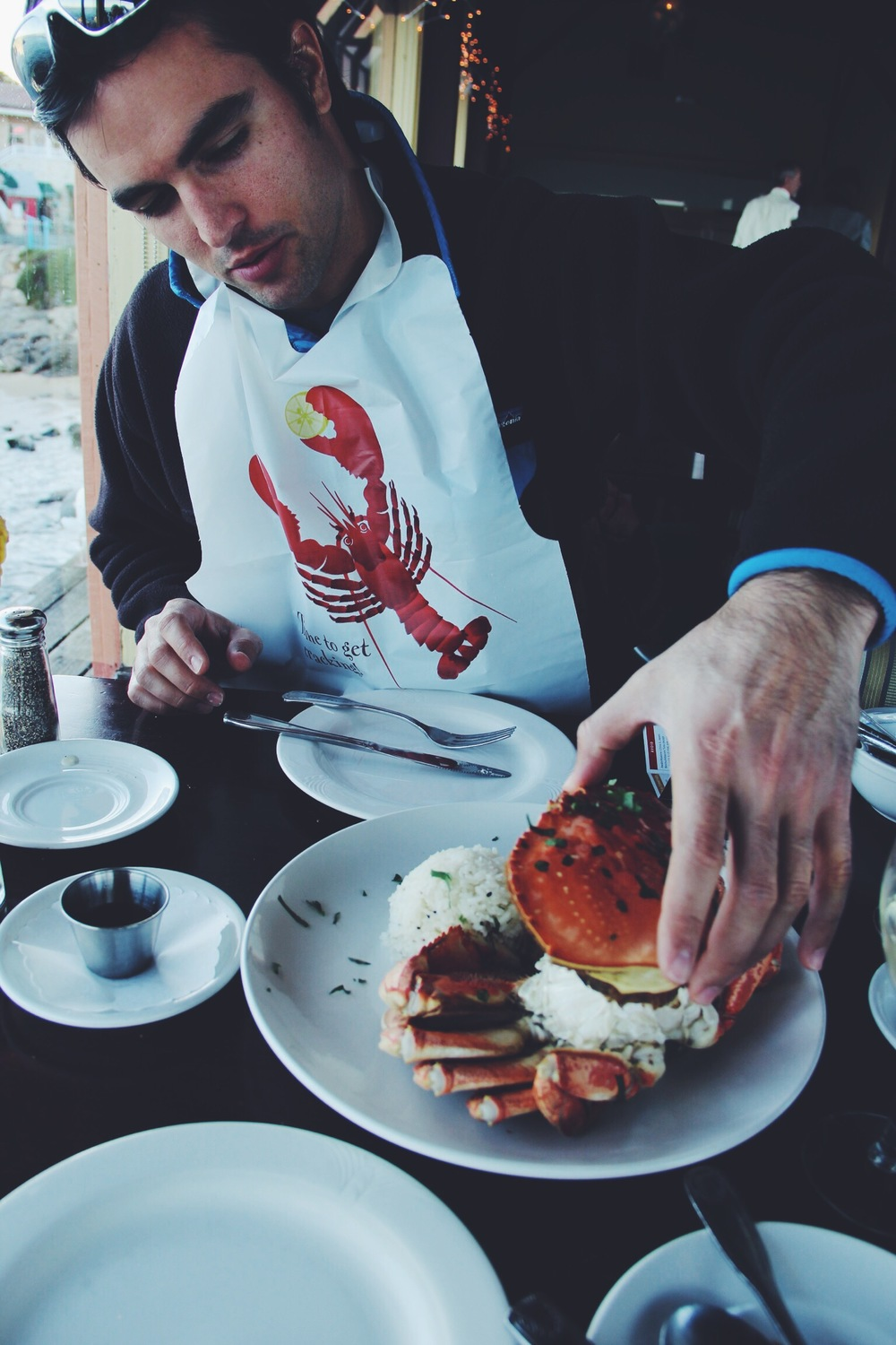 Monterey is known for their Dungeness Crab, so it's only natural to enjoy some while you're there!