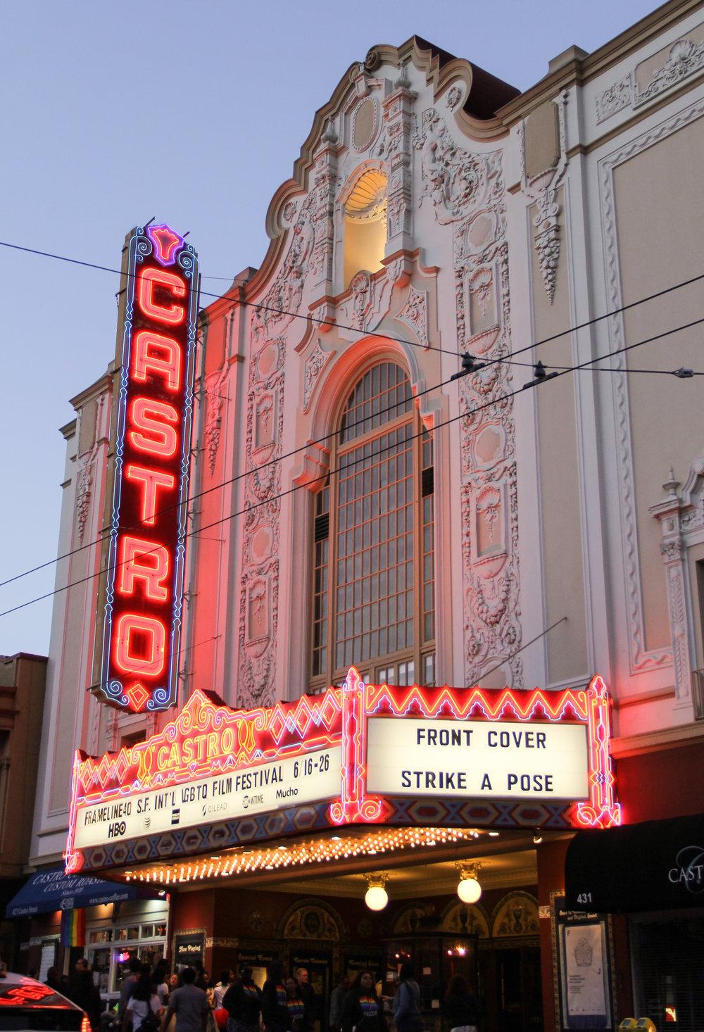 Castro Theatre at dusk