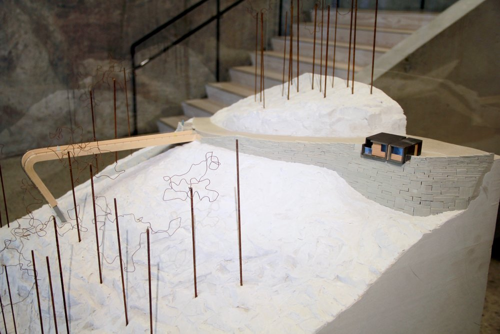 "A model of Stegastein Viewpoint's ""Bridge to Nowhere"".  One stop along one of Norway's 18 National Tourist Routes."