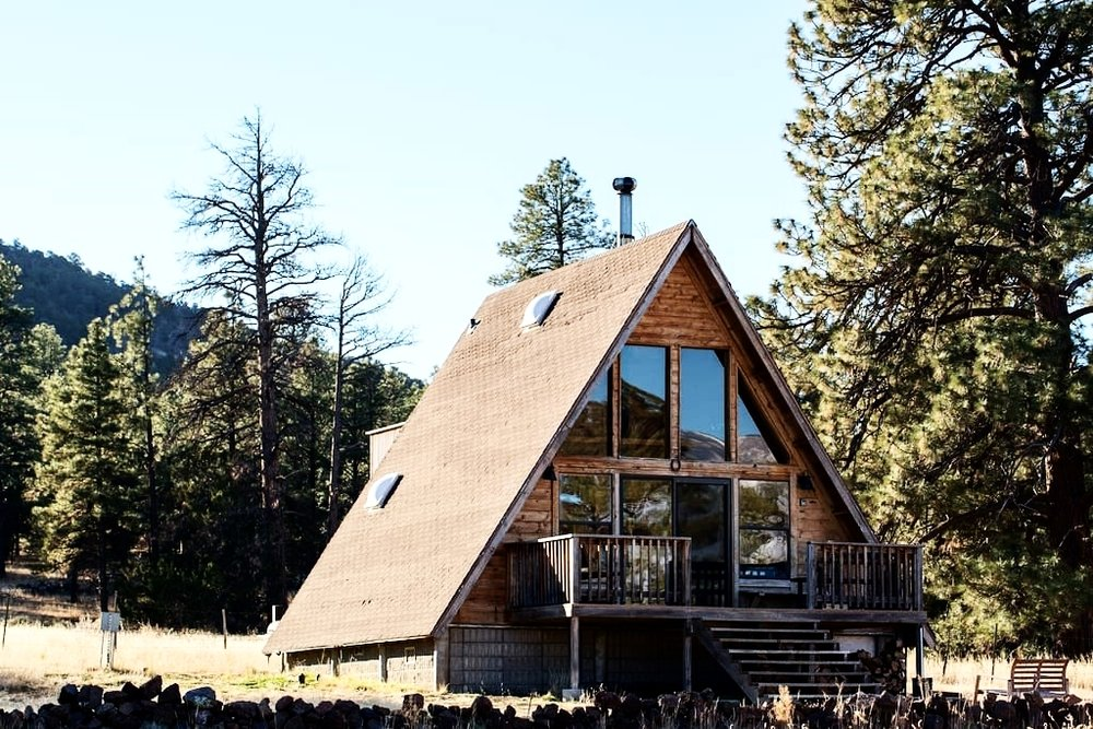 Photo Courtesy of A-Frame Mountain View Cabin