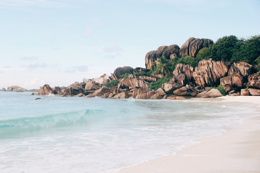 Grand Anse on La Digue Island, Seychelles