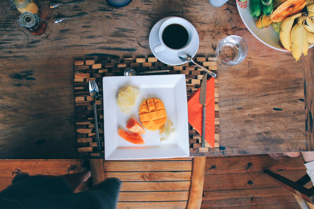 A stay at Copolia Lodge includes fresh fruit each morning