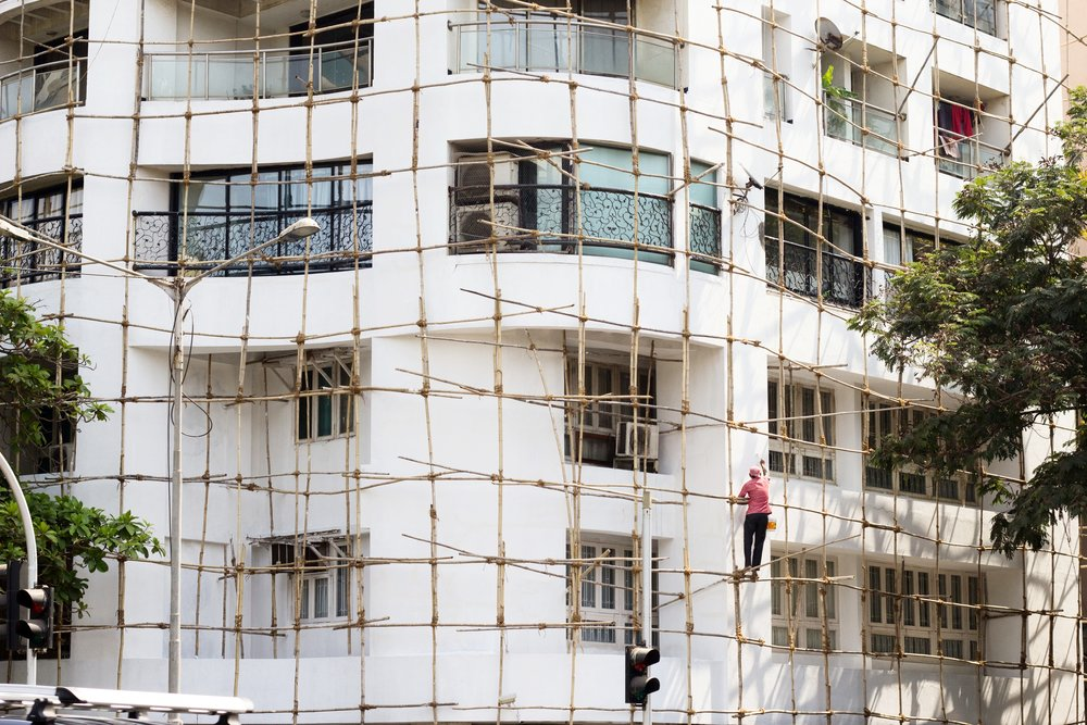 How Building Walls Get Painted in India