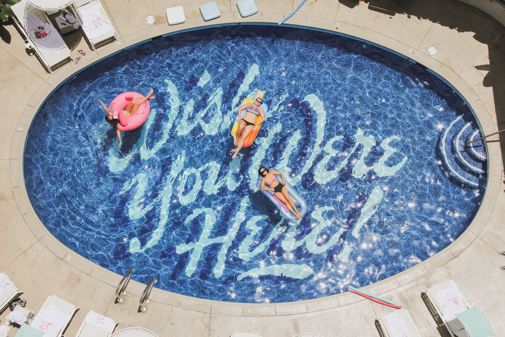 Wish You Were Here pool at the Surfjack Hotel & Swim Club in Waikiki