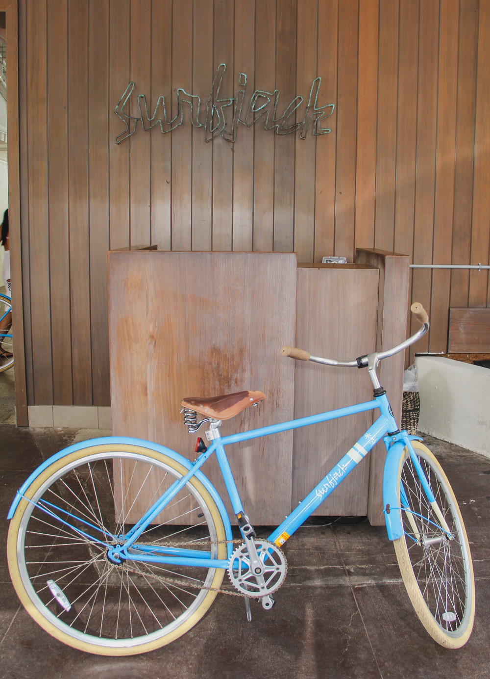 Complimentary bicycles are provided at the Surfjack.