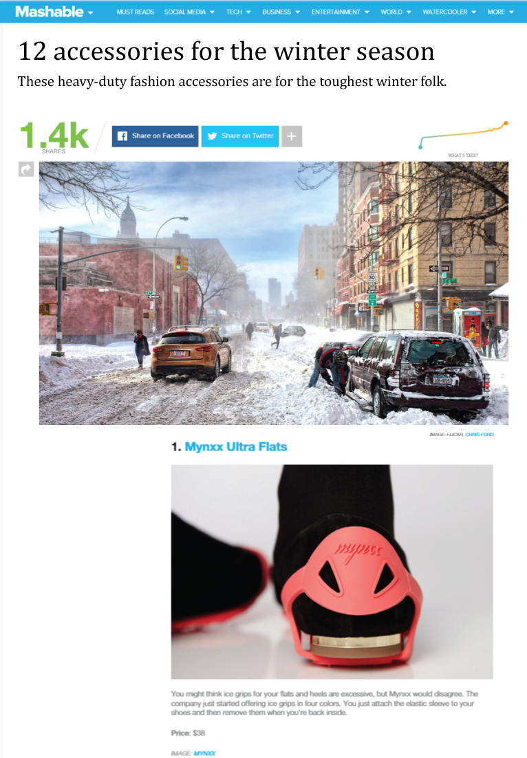 Ranked #1 extreme winter accessory:  Mashable.com