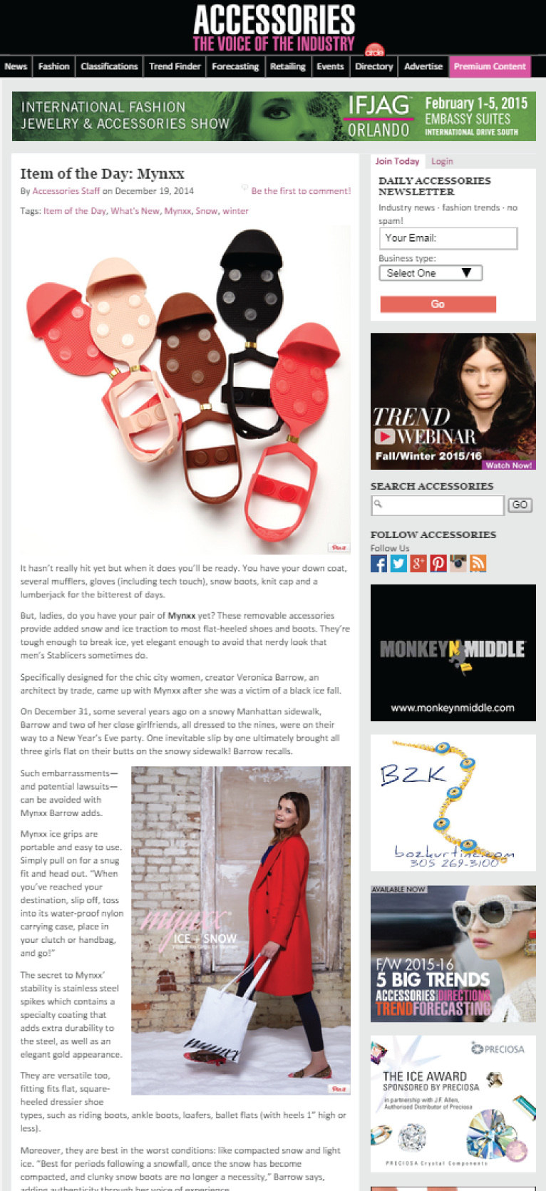 "Accessories Magazine  "" Item of the Day"" - Jeff Prine, Editor at Large"