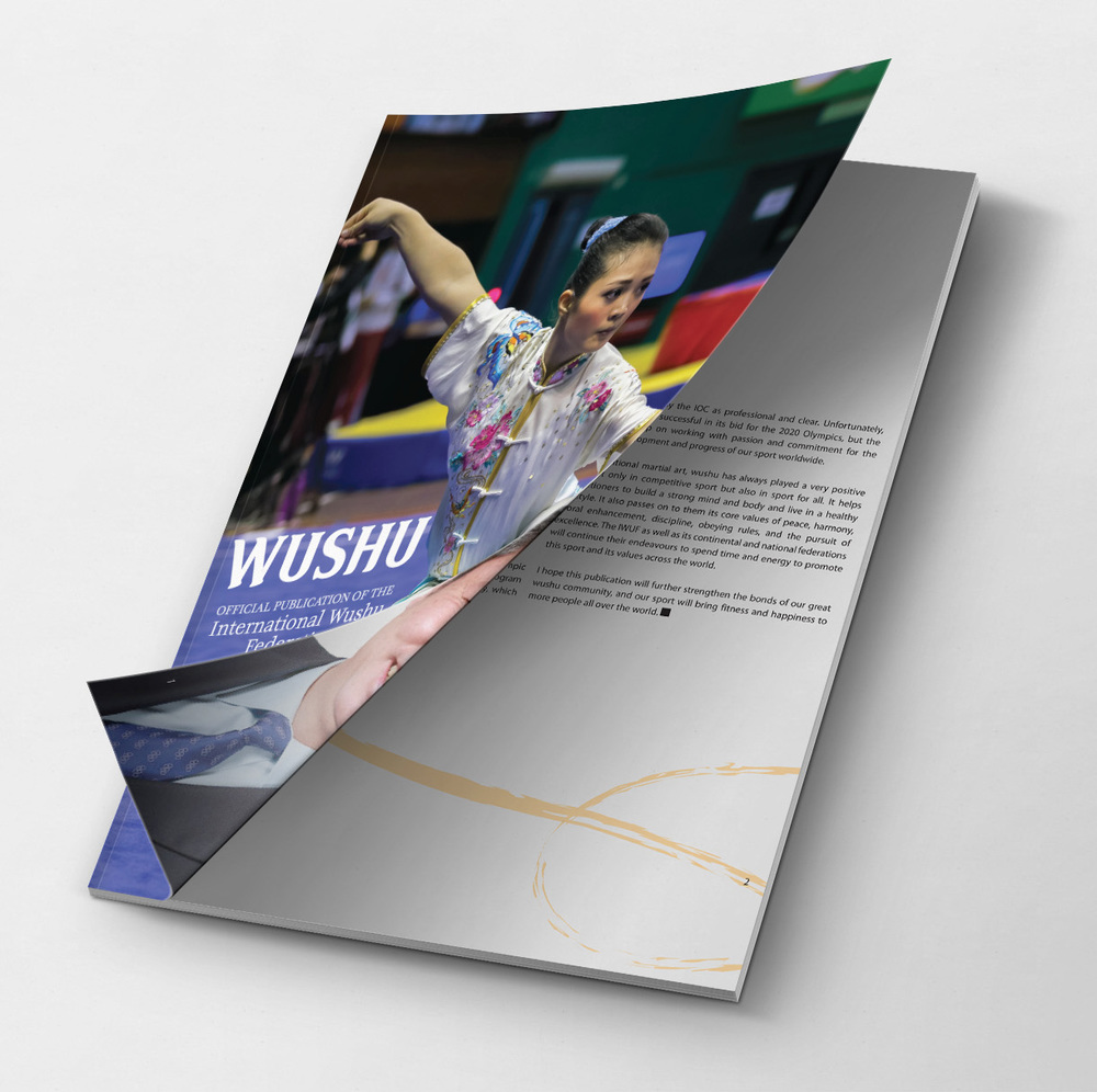 This 100 page magazine was designed for China and the Wushu Federation to present to the Olympic board and have kung fu be included in the Olympic Games.