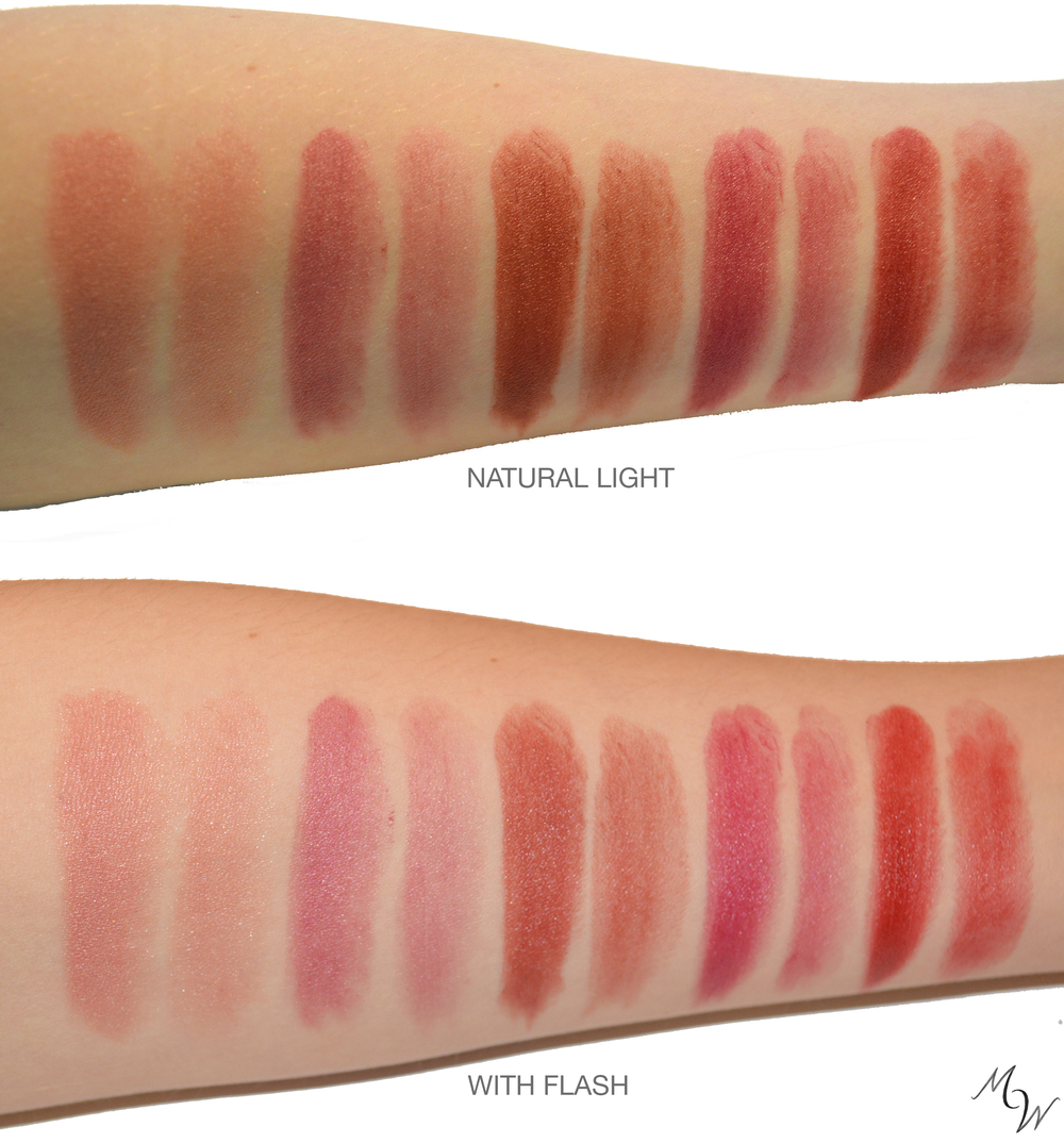 LUCY, EMMA, IRIS, GEORGIA, AND STELLA, SWATCHED FULL AND SHEER.