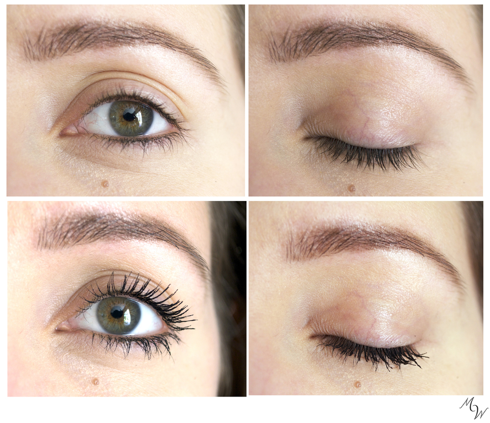 Before and after Lily Lolo Mascara.
