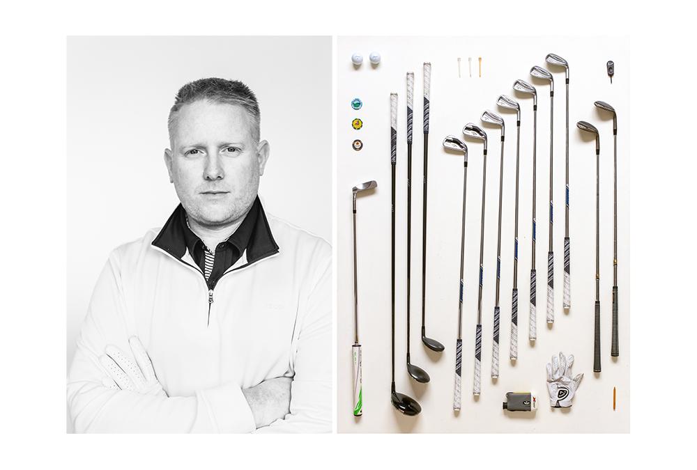 Golf Tool Set Taxonomy Art Print