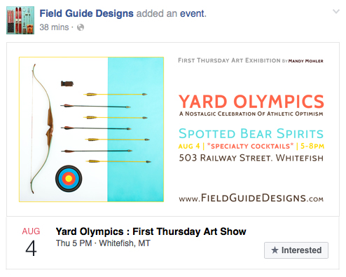 Yard Olympics Art Exhibition by Mandy Mohler