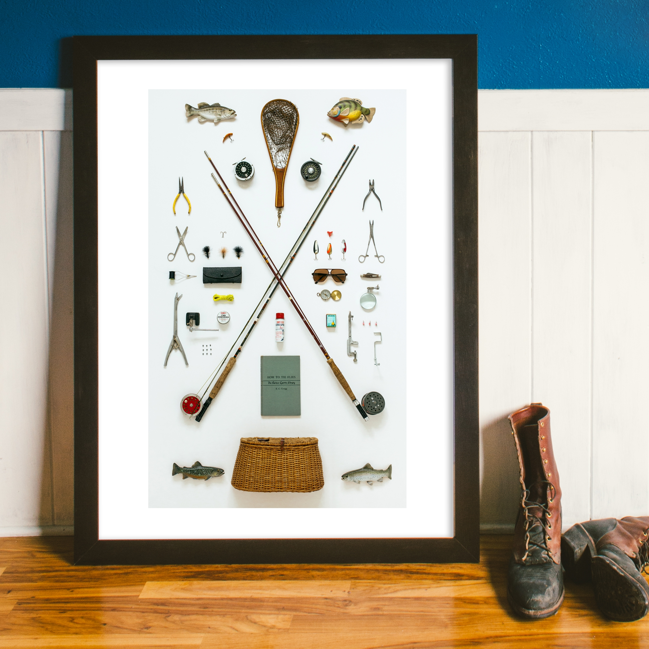 Fly Fisherman Art Print - Field Guide Designs