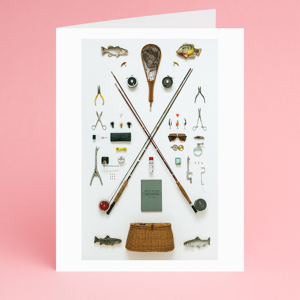Fly Fisherman Greeting Card