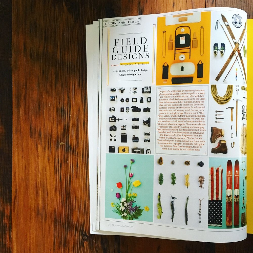 ORIGIN Magazine Artist Feature Mandy Mohler of Field Guide Designs