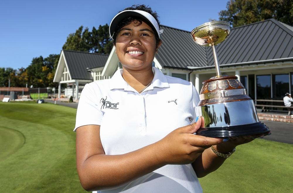 Chantelle Cassidy wins the women's NZ Strokeplay Championships. Photo: BW Media/Simon Watts