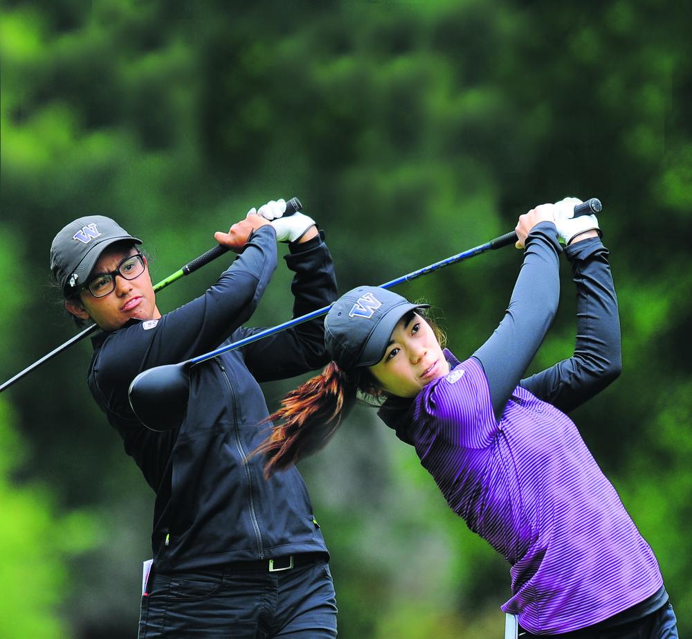 Julianne Alvarez and Wenyung Keh. Photo: University of Washington. Digitally edited by Golfer Pacific NZ