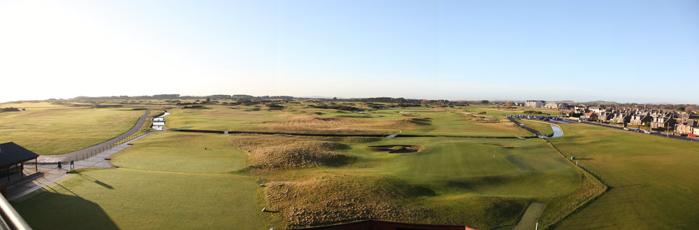 The Carnoustie golf course in Scotland which is planning a major renovation of it's clubhouse in time for the 2018 British Open.