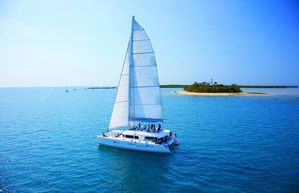 Aquarius Sail & Snorkel: a luxurious day out on the water sailing on a 62ft catamaran to Low Isles (tropicaljourneys.com)