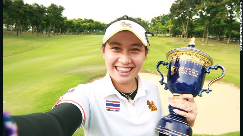 Atthaya Thitikul, winner of the Thailand Championship at age 14. PHOTO: Ladies European Tour.