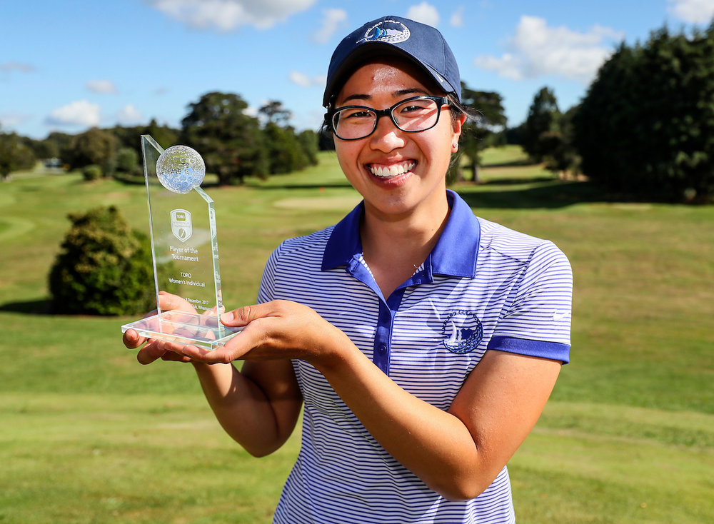 Caryn Khoo was named player of the tournament at the Interprovincial Championship. She turns professional this year