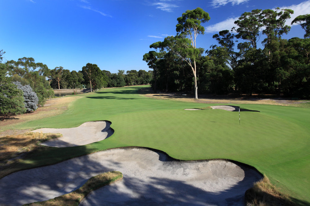The 10th hole at The Metropolitan Golf Club in Melbourne The World Cup of Golf will be held at the course in November. Photo: Gary Lisbon