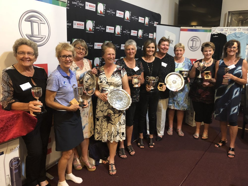 A group photo of the winners from the New Zealand Women's Seniors tournament