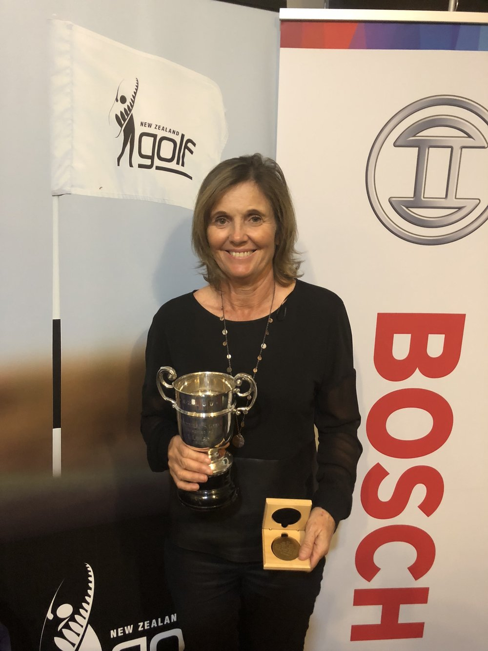 Sue Wooster, from Australia, winner of the New Zealand Women's Seniors tournament.