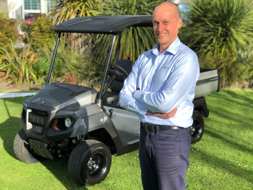Ian Macleod - GM of Parkland Products who are charged with driving Yamaha golf cart sales in the NZ and Pacific markets