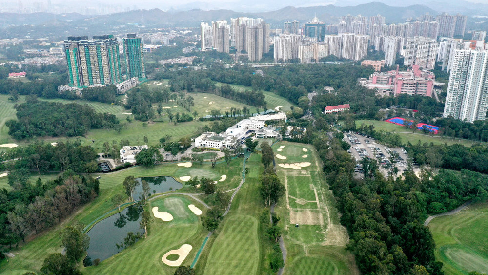 The Hong Kong Golf Club which is under threat of losing one-fifth of its land. Photo credit: South China Morning Post /Roy Issa.