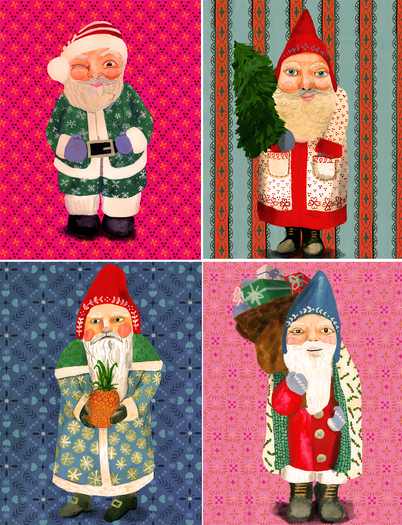 Merry Christmas from a few of the Santas I've seen around town!