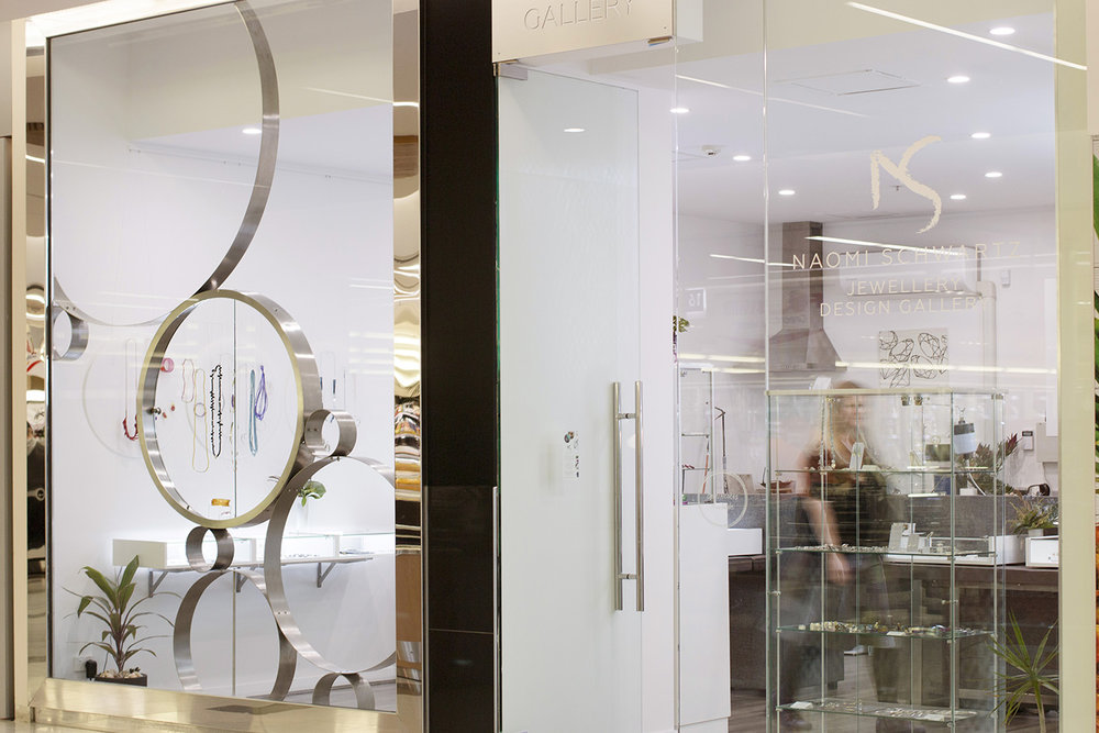 A bright and inviting entrance into Naomi's new gallery. Photograph courtesy of  Craig Arnold .
