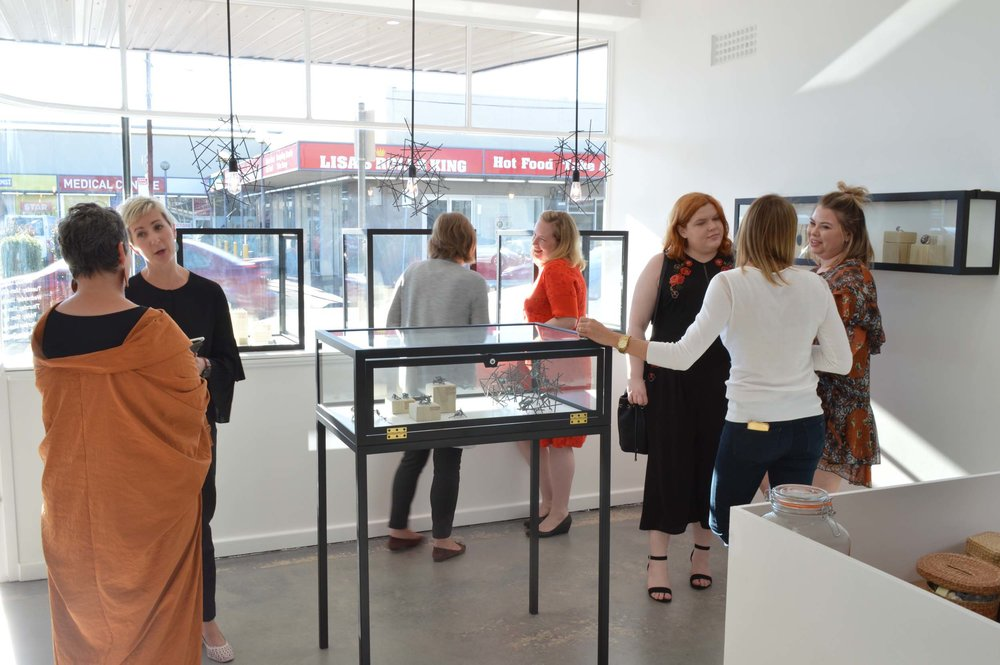 The launch party is underway at Claire Brooks Studio Gallery. Photograph courtesy of Laurence Coffrant.