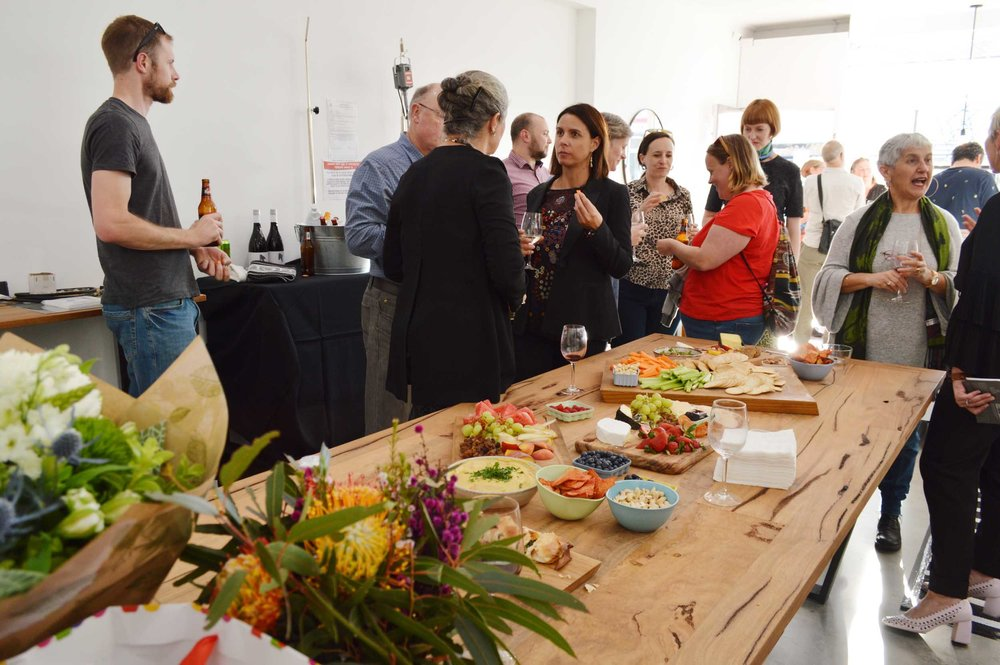 A colourful and delicious spread kindly prepared by Sylvia Nevistic, Courtney Jackson and Vesna Cavic. Photograph courtesy of Laurence Coffrant.