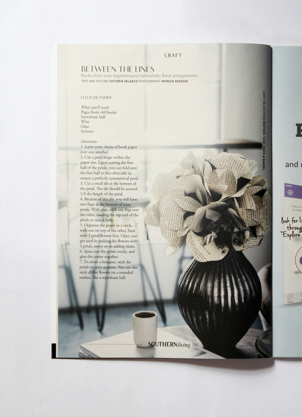 Southern Living Between The Lines Victoria Velasco Paper Florist