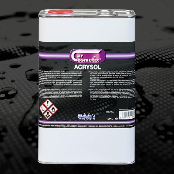 ACRYSOL 4L - NL Is een speciaal voor veel doeleinden geschikt carrosserie oplosmiddel.FR Est un solvent polyvalent pour le carrosserie.EN Is an allround solvent for the cars bodywork.1L/4L