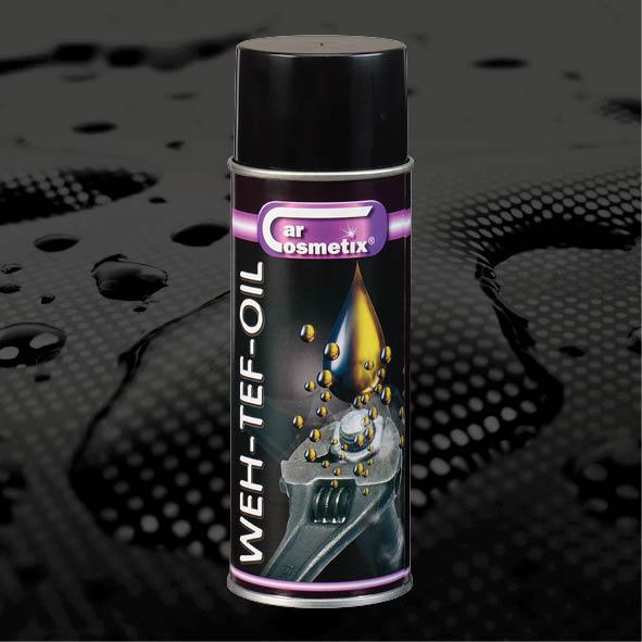 WEH-TEF-OIL - NLWehtef oil Is een hoogwaardig smeermiddel,kruipolie en roestwerend middel op basis van polytetrafluorethyleen. (PTFE)FR Est un lubrifiant de qualité supérieur,une huile de décalage et une anti-rouilleà base de polytetra-fluorethylène. (PTFE)ENWehtef oil Is a high-quality lubricant, penetrating and rust-preventing with a base of (PTFE)400ml